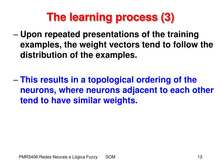 The learning process (3)