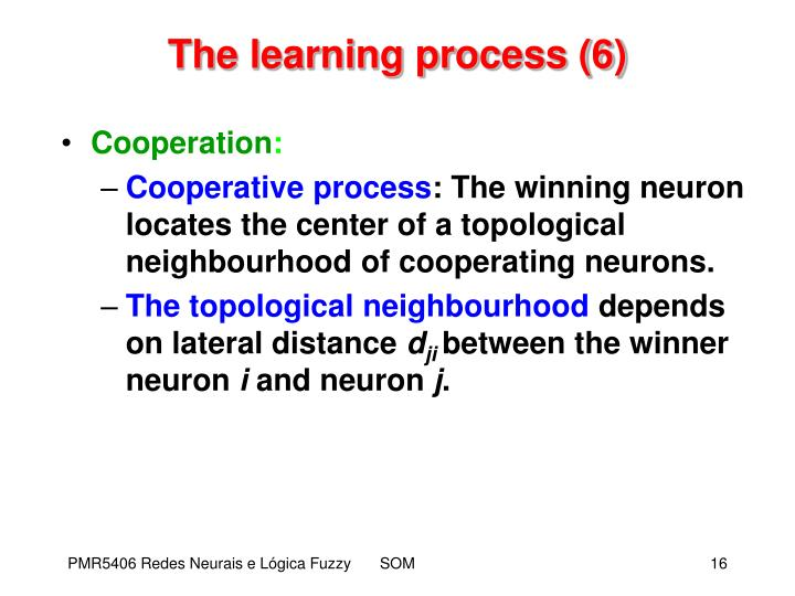 The learning process (6)