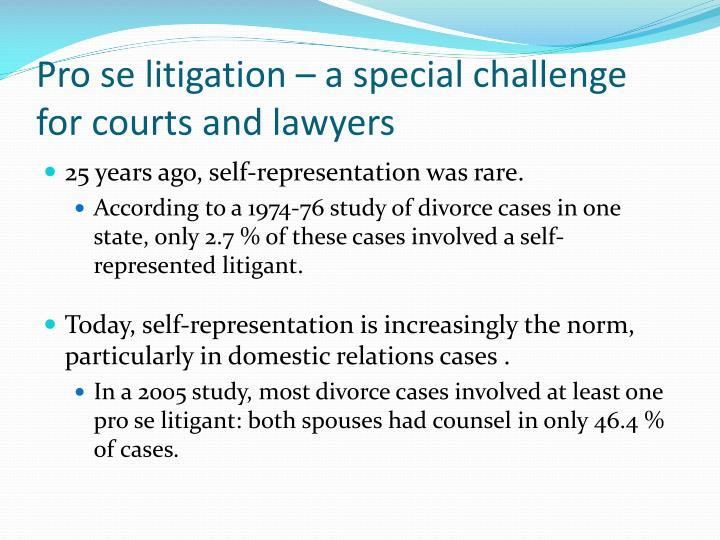 Pro se litigation –