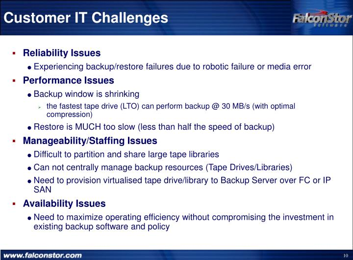 Customer IT Challenges
