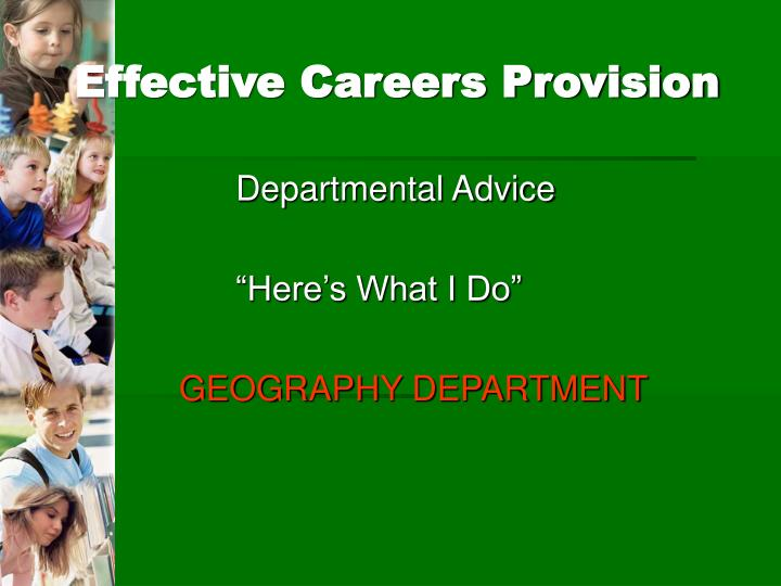 Effective Careers Provision