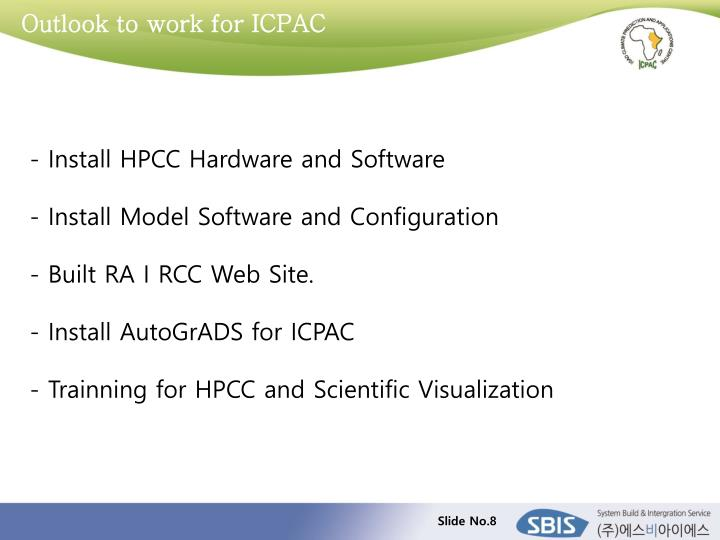 Outlook to work for ICPAC