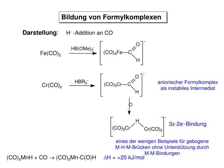 Bildung von Formylkomplexen