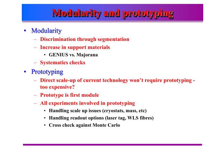 Modularity and prototyping