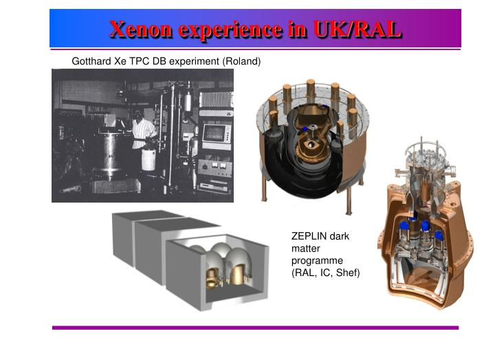 Xenon experience in UK/RAL