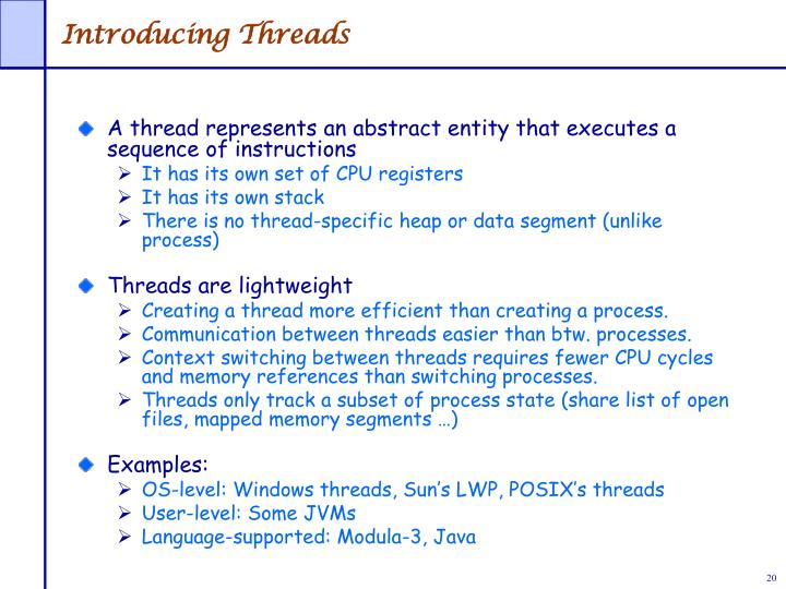 Introducing Threads