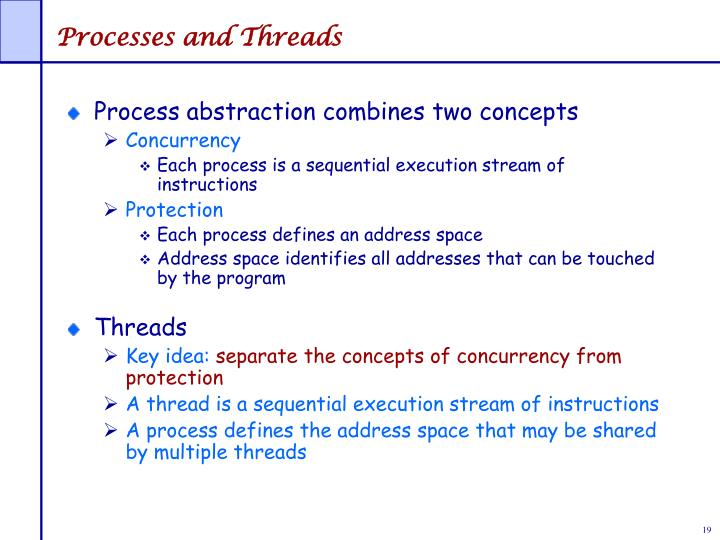 Processes and Threads