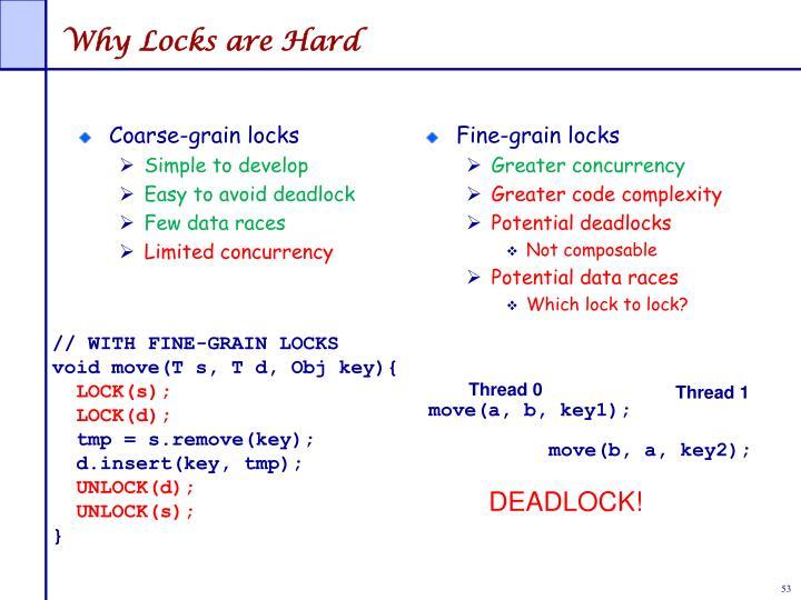 Fine-grain locks