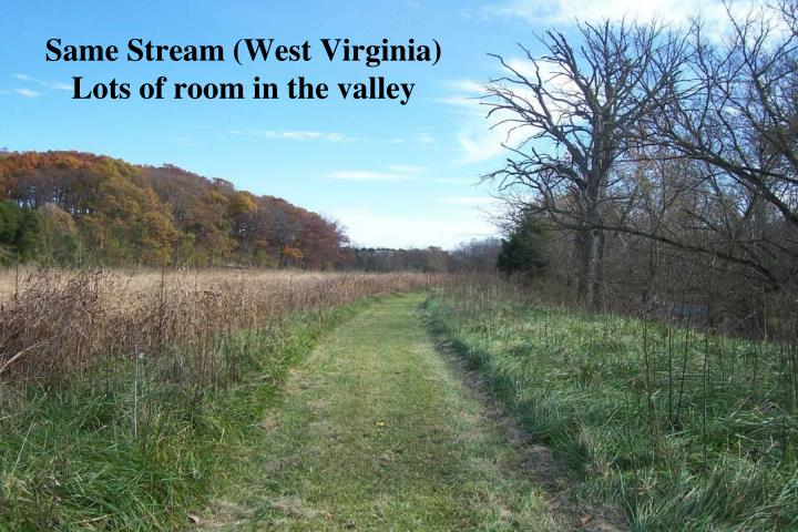 Same Stream (West Virginia) Lots of room in the valley