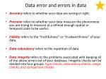 data error and errors in data