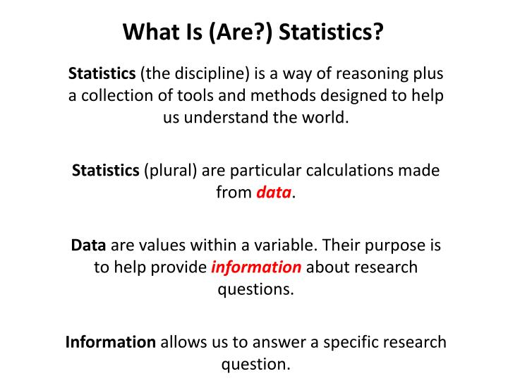 What Is (Are?) Statistics?