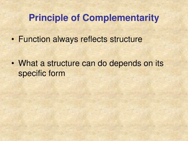 Principle of Complementarity