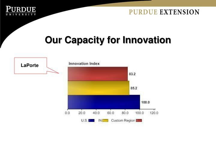 Our Capacity for Innovation