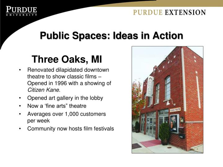 Public Spaces: Ideas in Action