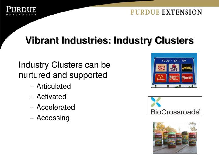 Vibrant Industries: Industry Clusters