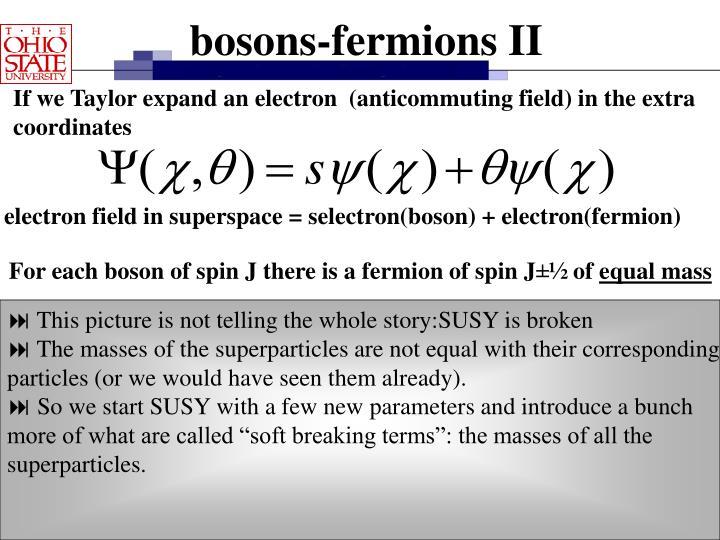 bosons-fermions II