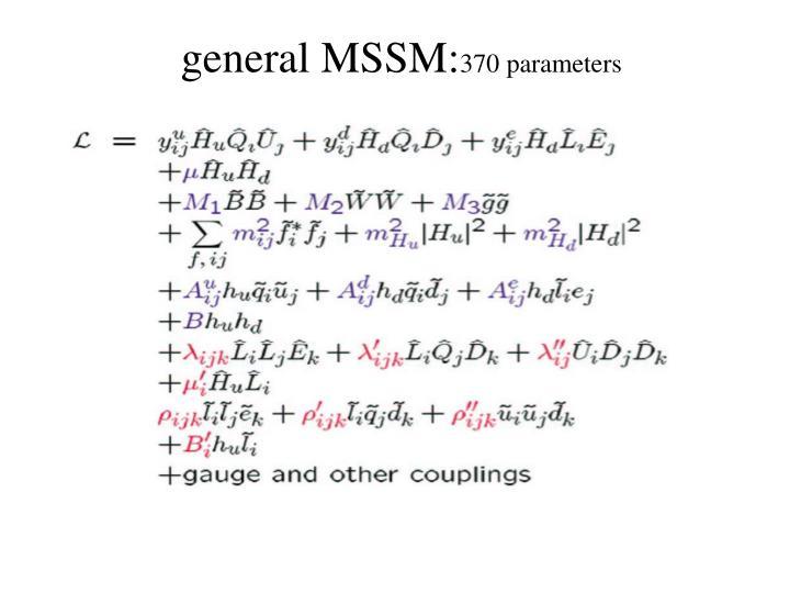 general MSSM:
