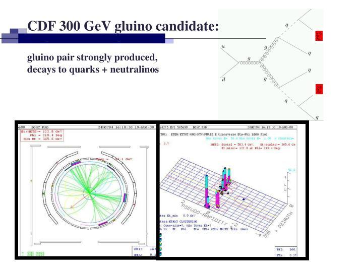 CDF 300 GeV gluino candidate:
