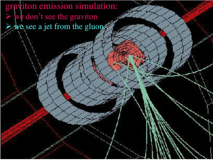 graviton emission simulation: