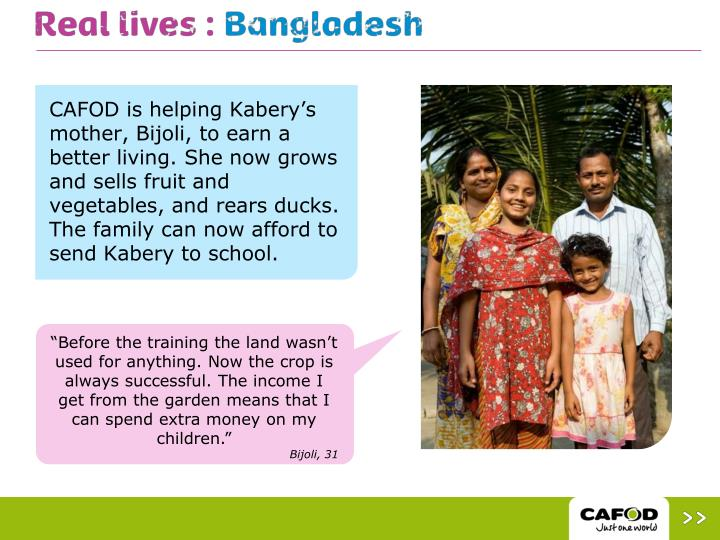 CAFOD is helping