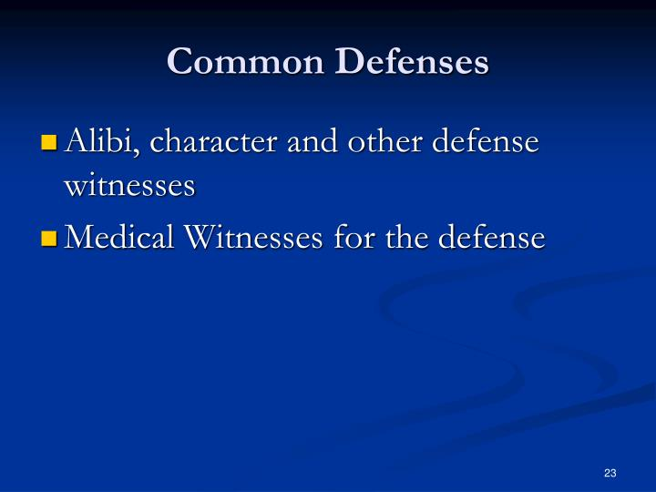 Common Defenses
