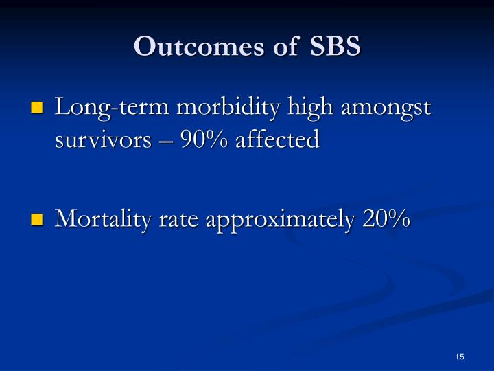 Outcomes of SBS