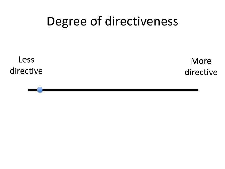 Degree of directiveness