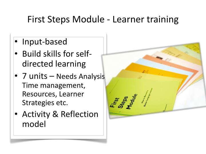 First Steps Module - Learner training
