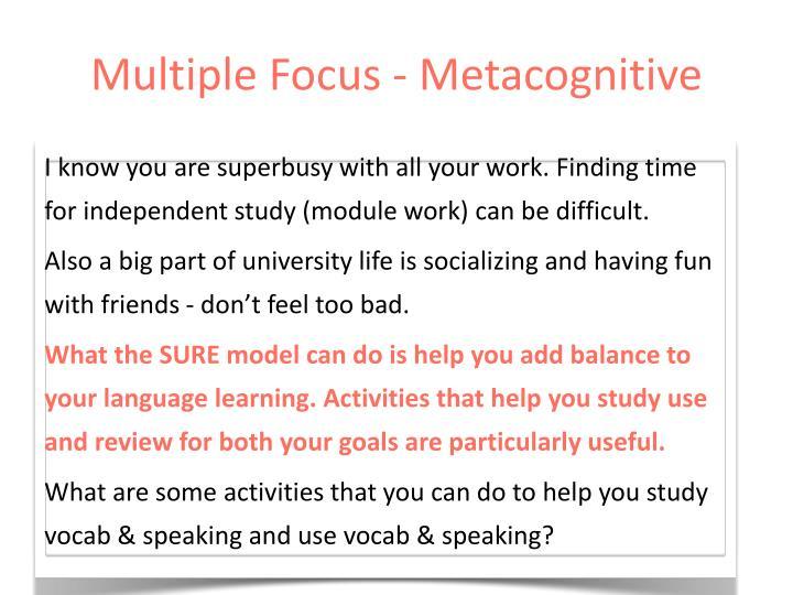 Multiple Focus - Metacognitive