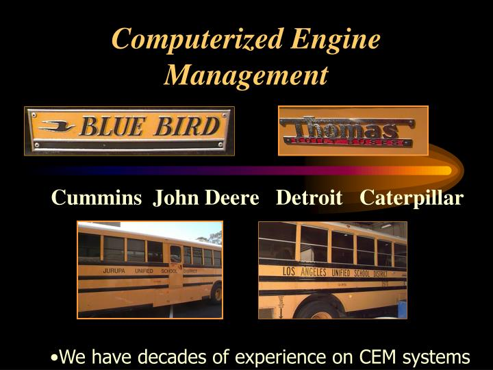 Computerized Engine Management