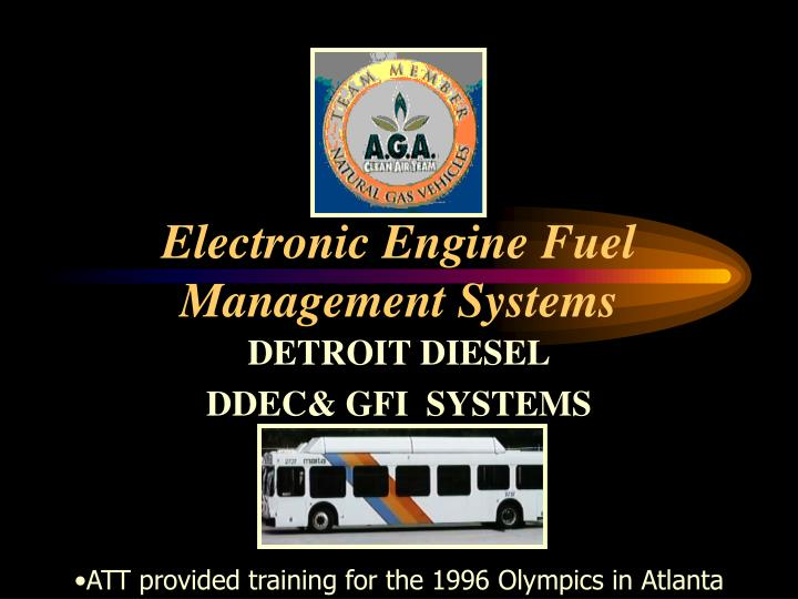 Electronic Engine Fuel Management Systems