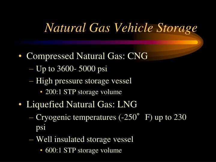 Natural Gas Vehicle Storage