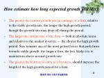 how estimate how long expected growth will last