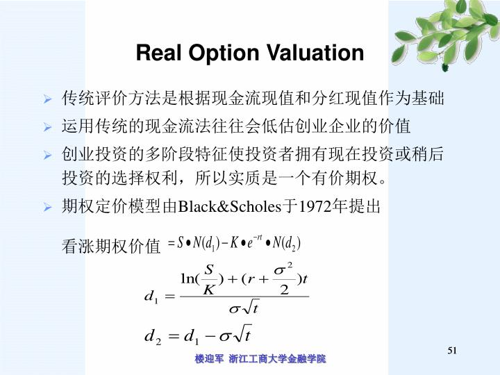 Real Option Valuation