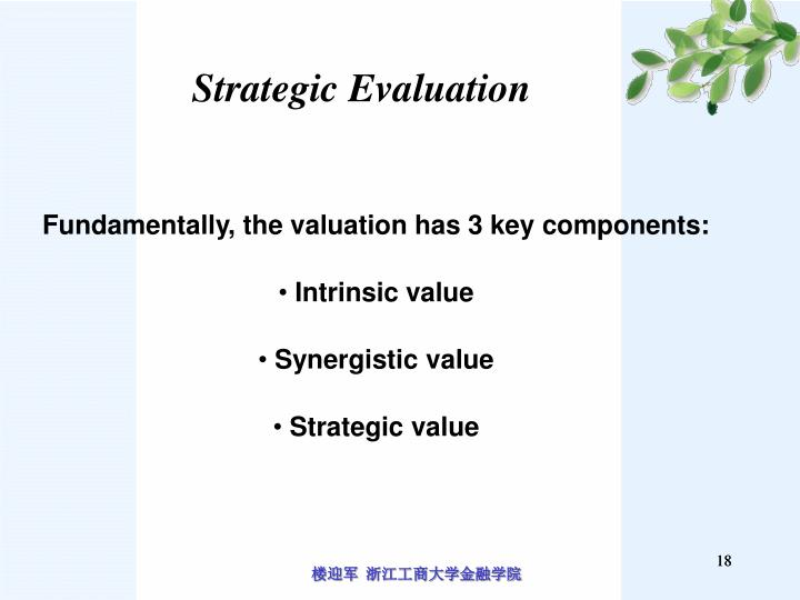 Strategic Evaluation