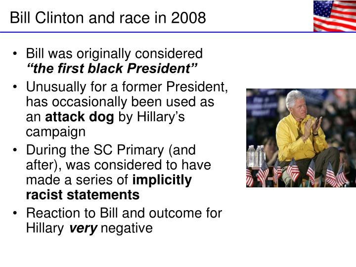 Bill was originally considered