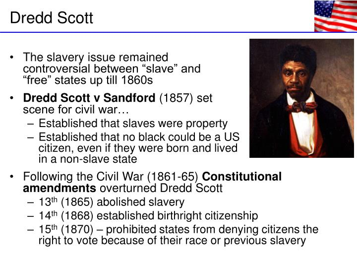 """The slavery issue remained                                 controversial between """"slave"""" and                                    """"free"""" states up till 1860s"""