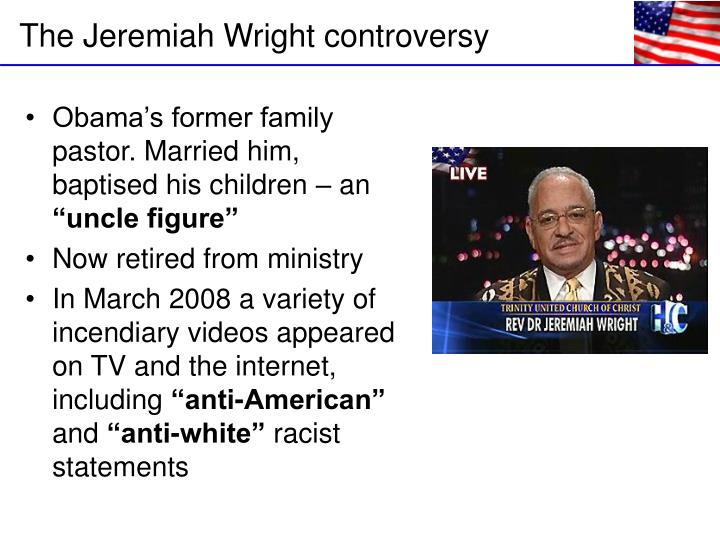 Obama's former family pastor. Married him, baptised his children – an