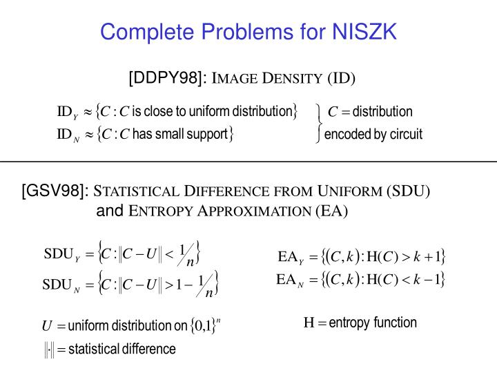Complete Problems for NISZK