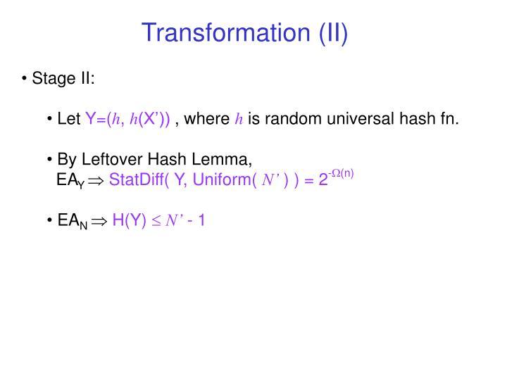 Transformation (II)
