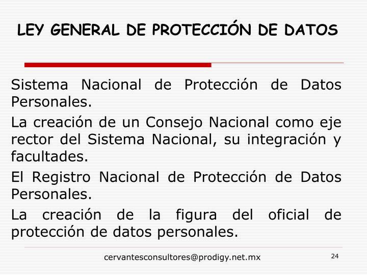 Sistema Nacional de Protección de Datos Personales