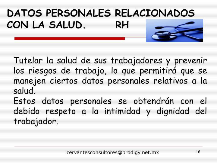 Datos personales relacionados