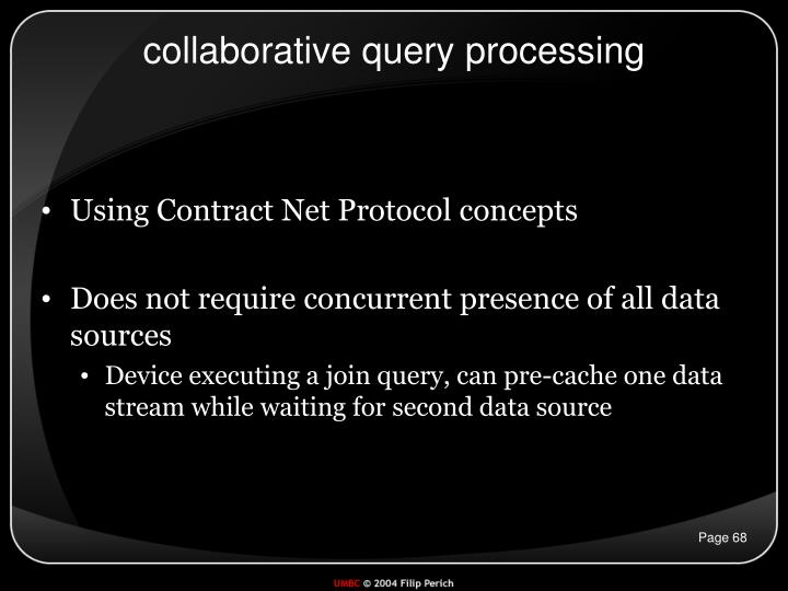 collaborative query processing
