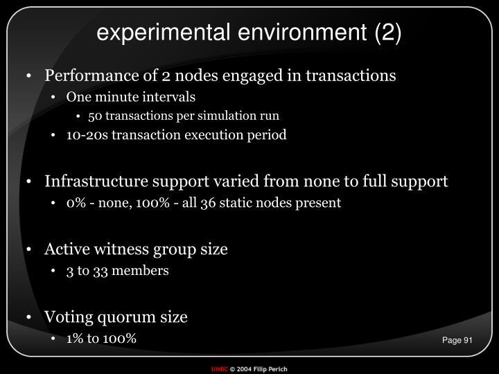 experimental environment (2)