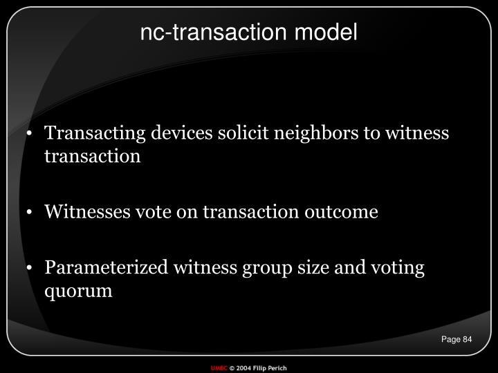 nc-transaction model