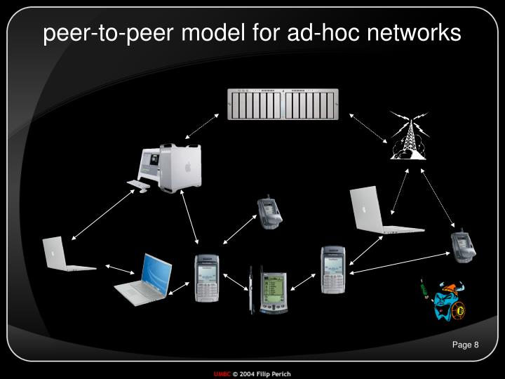 peer-to-peer model for ad-hoc networks