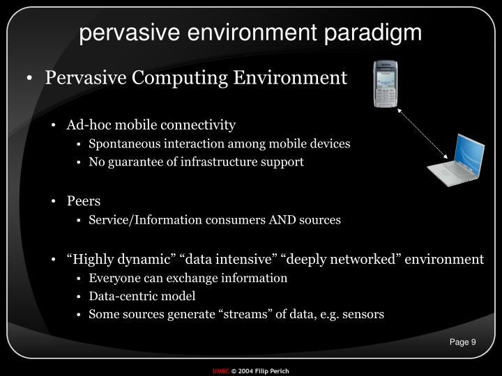 pervasive environment paradigm
