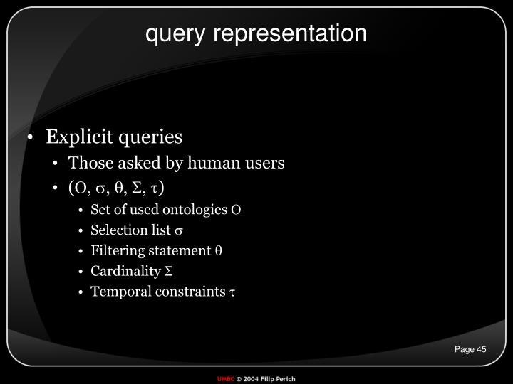 query representation