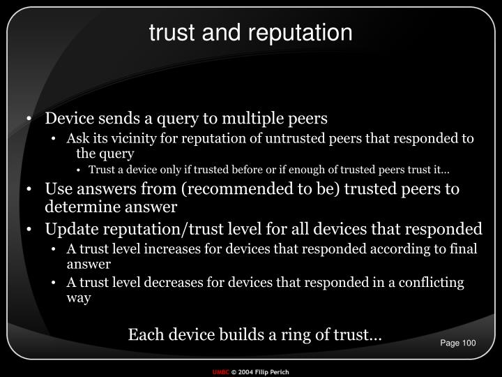 trust and reputation