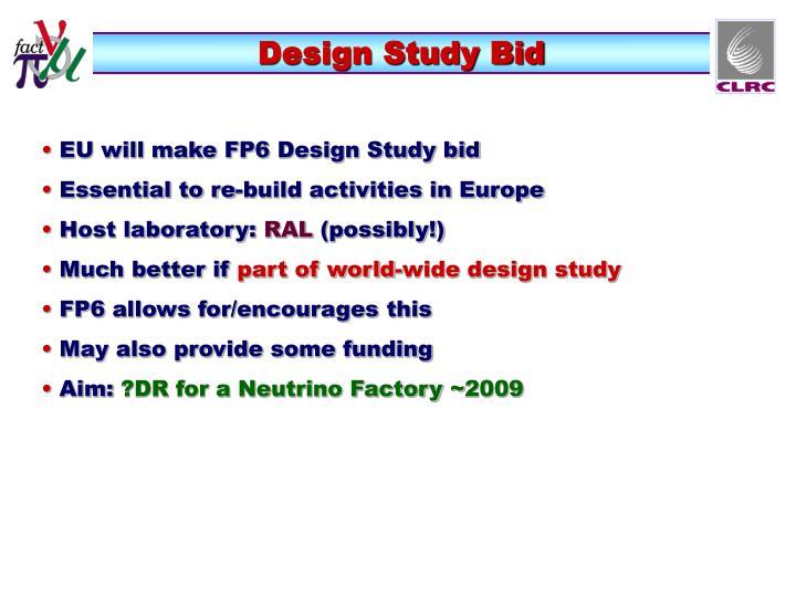 Design Study Bid